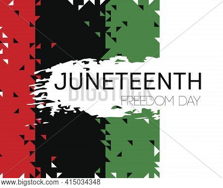 Vector. Template Poster With Hand Draw Juneteenth Freedom Day