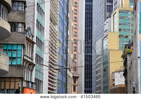 High rise buildings in downtown Sao Paulo, Brazil