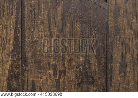 Elevated View Old Hardwood Floor. High Quality And Resolution Beautiful Photo Concept