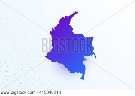 Map Icon Of Colombia. Colorful Gradient Map On Light Background. Modern Digital Graphic Design. Ligh