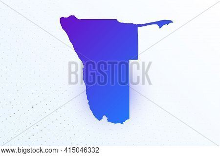 Map Icon Of Namibia. Colorful Gradient Map On Light Background. Modern Digital Graphic Design. Light