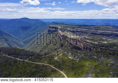 Aerial View Of Kanangra Walls And Valley In Kanangra-boyd National Park In The Central Tablelands In