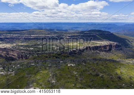 Aerial View Of The Valley In The Kanangra-boyd National Park In The Central Tablelands In Regional N