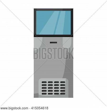 Terminal Vector Icon.cartoon Vector Icon Isolated On White Background Terminal.