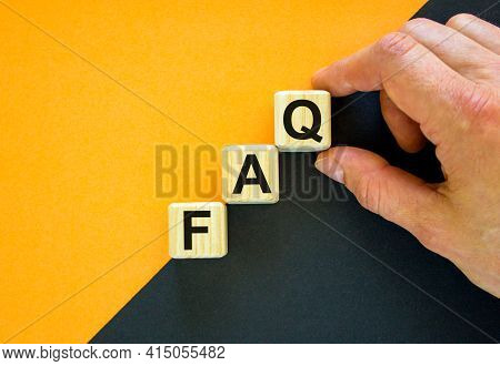 Faq, Frequently Asked Questions Symbol. Concept Word 'faq, Frequently Asked Questions' On Cubes On A