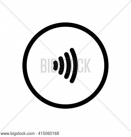 Contactless Nfc Payment Line Icon In Black, Rfid Credit Card, Wireless Pay Simple Minimalistic Illus
