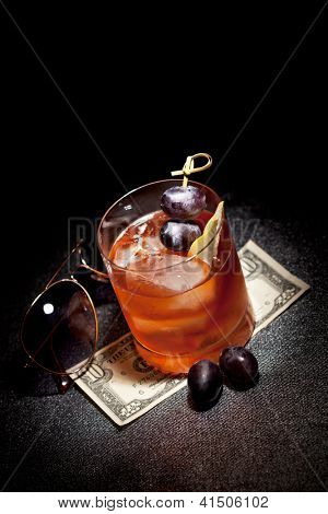 Gangsta Cocktail - Calvados with Dark Rum, Cane Sugar and Bitter