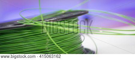 Spools of plastic filaments for 3D Printer