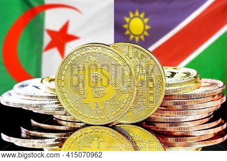 Concept For Investors In Cryptocurrency And Blockchain Technology In The Algeria And Namibia. Bitcoi