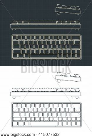 Mechanical Keyboard Drawings