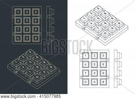 Numeric Keypad Drawings