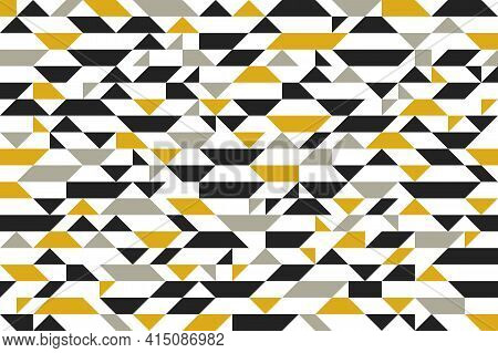 Mosaic Seamless Background, Vector Chaotic Abstract Geometric Tiling Background, Interior Design Ele