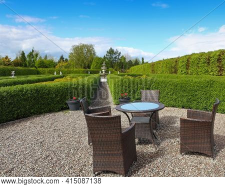 Garden table and chairs a place for relaxation