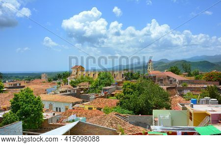 TRINIDAD, CUBA - JULY 25, 2016: Trinidad is a town in the province of Sancti Spiritus, central Cuba. Together with the nearby Valle de los Ingenios, it is a UNESCO World Heritage site.