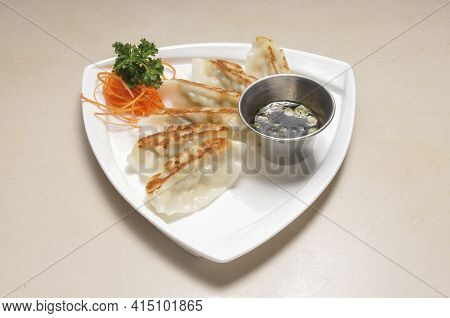 Authentic Traditional Japanese Dish Known As Gyoza