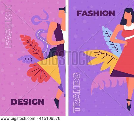 Fashion And Design, Courses On Creative Art Vector