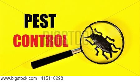 Pest Control. Warning Text Label. Measures To Combat Insects, Ticks, Rodents And Other Harmful Anima