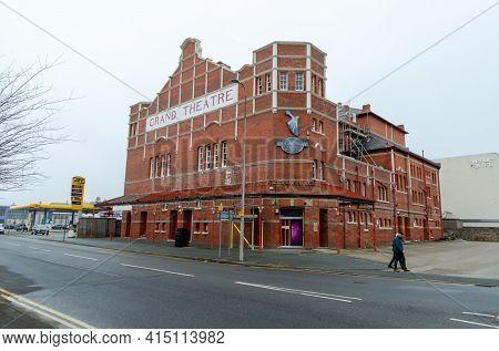 Llandudno, Uk: Mar 18, 2021: The Broadway Boulevard Nightclub Premises Were Previously The Grand The