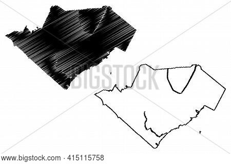 Elizabeth City, New Jersey (united States Cities, United States Of America, Usa City) Map Vector Ill