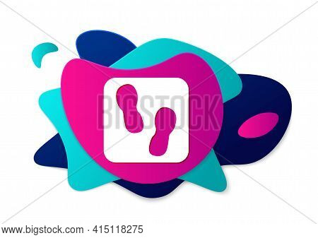 Color Human Footprints Shoes Icon Isolated On White Background. Shoes Sole. Abstract Banner With Liq