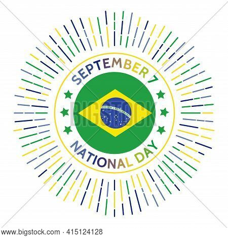 Brazil National Day Badge. Independence From The United Kingdom Of Portugal, Brazil And The Algarves