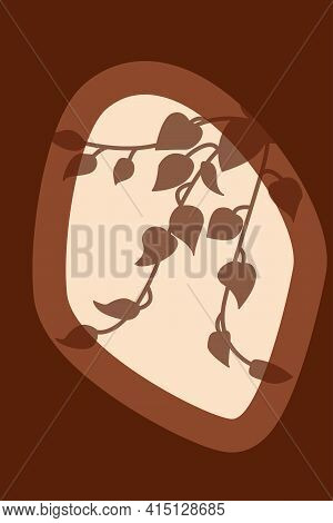 Tropical Rainforest Exotic Leaf Pattern Background. Boho Minimalist Poster For Design T Shirt, Nurse