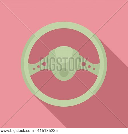 Car Steering Wheel Icon. Flat Illustration Of Car Steering Wheel Vector Icon For Web Design