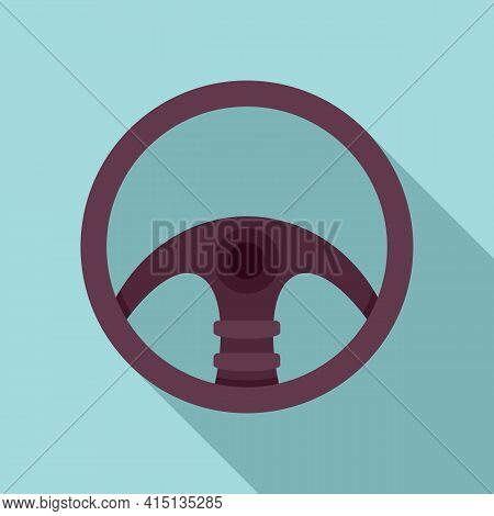 Hand Steering Wheel Icon. Flat Illustration Of Hand Steering Wheel Vector Icon For Web Design