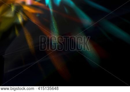 Beautiful Concept With Prism Dispersing Light. High Quality And Resolution Beautiful Photo Concept