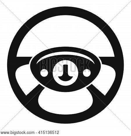 Control Steering Wheel Icon. Simple Illustration Of Control Steering Wheel Vector Icon For Web Desig