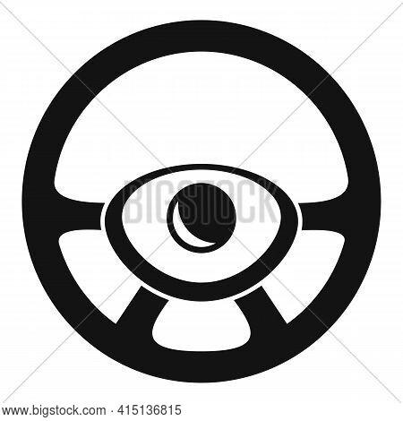 Circle Steering Wheel Icon. Simple Illustration Of Circle Steering Wheel Vector Icon For Web Design