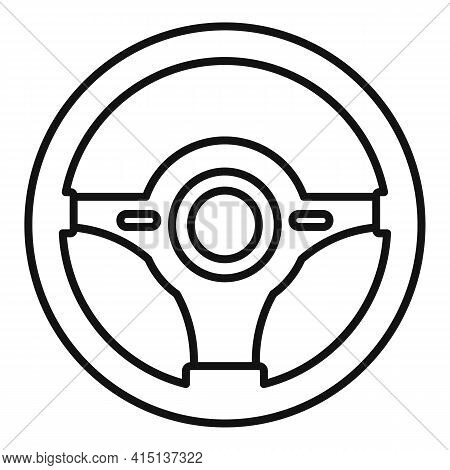 Part Steering Wheel Icon. Outline Part Steering Wheel Vector Icon For Web Design Isolated On White B