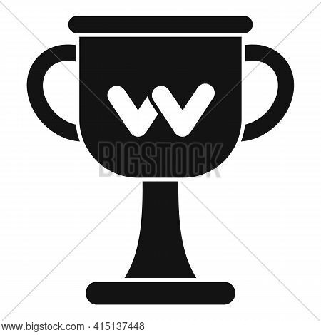 Arm Wrestling Cup Icon. Simple Illustration Of Arm Wrestling Cup Vector Icon For Web Design Isolated