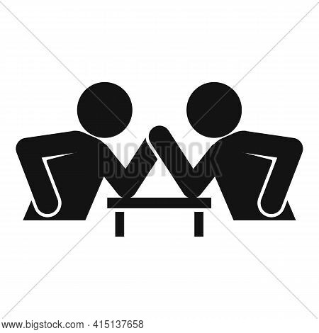 Table Arm Wrestling Icon. Simple Illustration Of Table Arm Wrestling Vector Icon For Web Design Isol