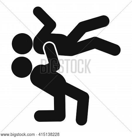 Greco-roman Wrestling Male Icon. Simple Illustration Of Greco-roman Wrestling Male Vector Icon For W