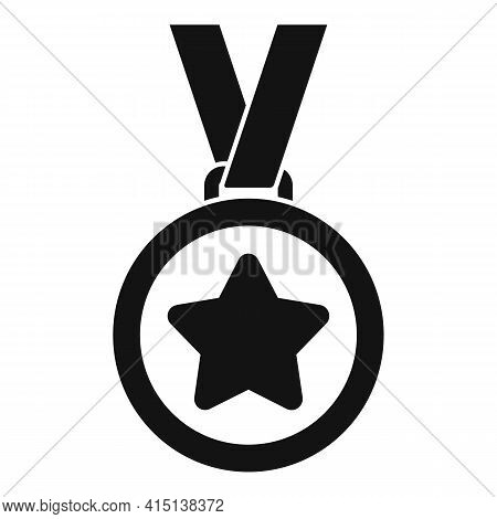 Greco-roman Wrestling Medal Icon. Simple Illustration Of Greco-roman Wrestling Medal Vector Icon For