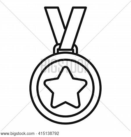 Greco-roman Wrestling Medal Icon. Outline Greco-roman Wrestling Medal Vector Icon For Web Design Iso