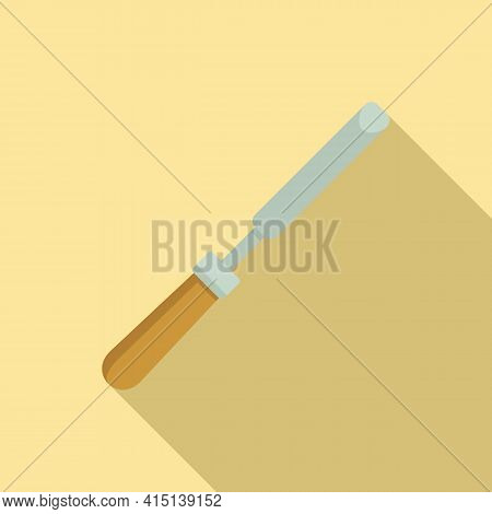 Chisel Icon. Flat Illustration Of Chisel Vector Icon For Web Design