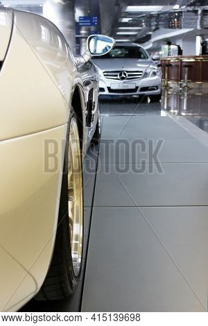 Kiev, Ukraine - August 21, 2011: Abstract Photo Of A Supercar Mercedes-benz Slr Mclaren Stirling Mos