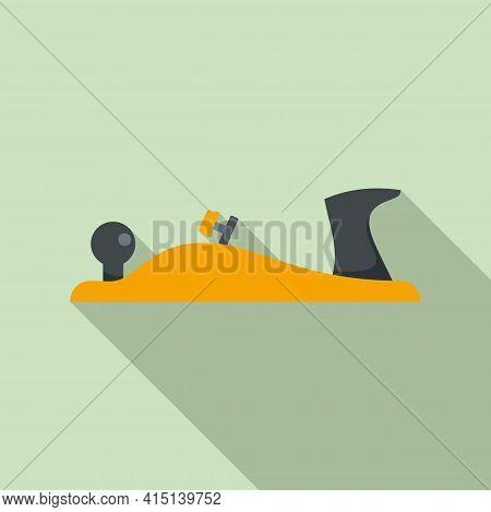 Carpenter Plane Icon. Flat Illustration Of Carpenter Plane Vector Icon For Web Design