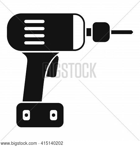 Cordless Drill Icon. Simple Illustration Of Cordless Drill Vector Icon For Web Design Isolated On Wh
