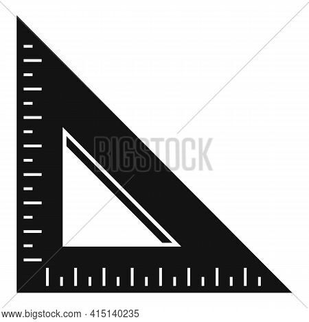 Angle Ruler Icon. Simple Illustration Of Angle Ruler Vector Icon For Web Design Isolated On White Ba