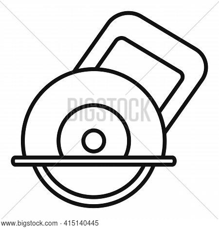 Circular Saw Icon. Outline Circular Saw Vector Icon For Web Design Isolated On White Background