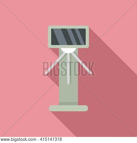 Tripod Turnstile Icon. Flat Illustration Of Tripod Turnstile Vector Icon For Web Design
