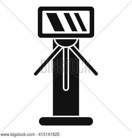 Tripod Turnstile Icon. Simple Illustration Of Tripod Turnstile Vector Icon For Web Design Isolated O