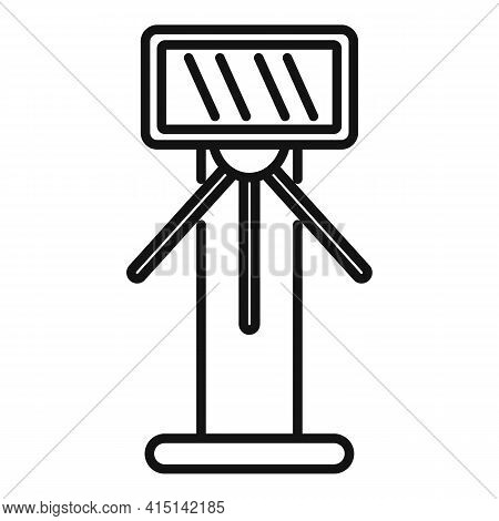 Tripod Turnstile Icon. Outline Tripod Turnstile Vector Icon For Web Design Isolated On White Backgro