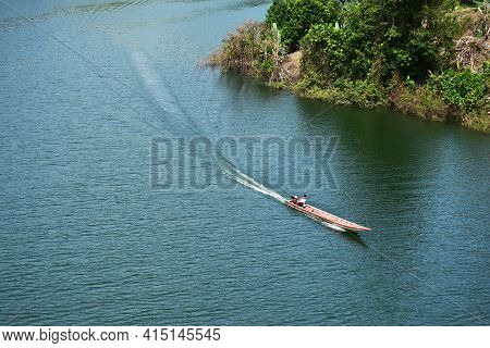 Scenery Of The Reservoir And Bang Lang Dam Yala/thailand With Nature Peacefull Enviroment