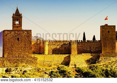 The Alcazaba Fortress In Antequera, Spain.