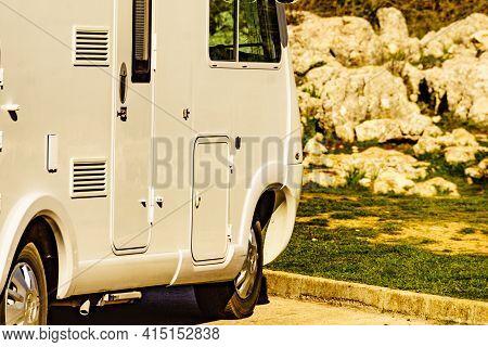 Caravan In Torcal De Antequera, Spain
