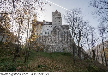 Brasov, Transylvania, Romania, October 2015: The Medieval Castle Of Bran, Known As The Castle Of Cou